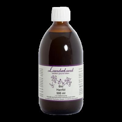 Kendermagolaj, BIO, Lunderland, 500 ml