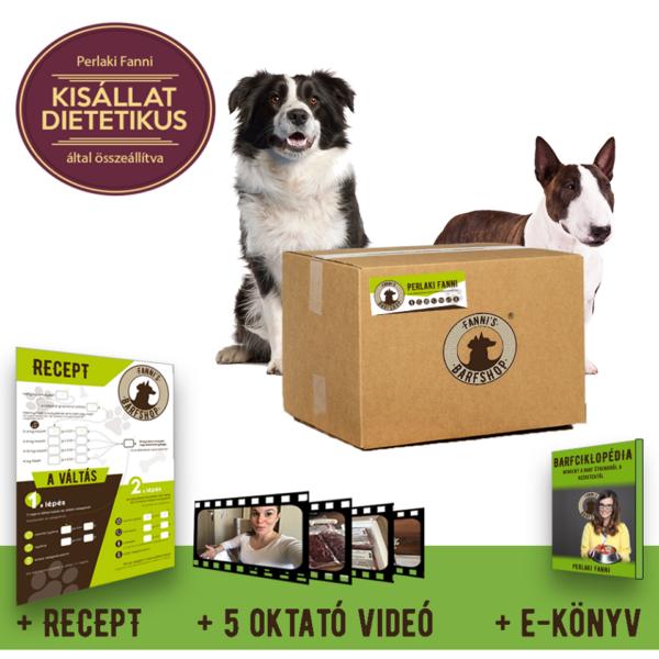 BARF Kezdő program, egy havi húsadaggal, közepes testű kutyáknak