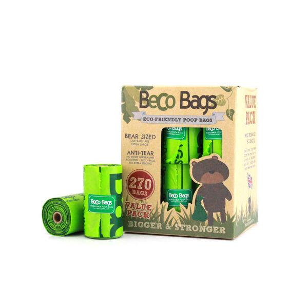 Lebomló kutyaürülék zacskó, 270 db, Utazó csomag, Beco Pet's