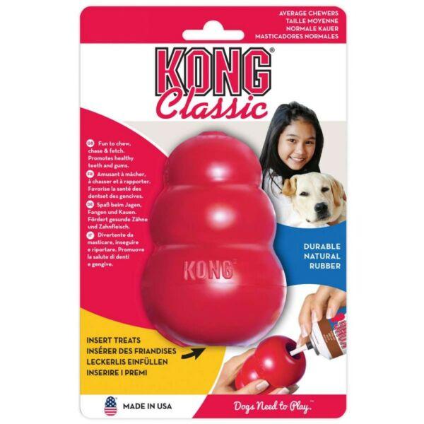 Kutyajáték KONG Classic, L, piros