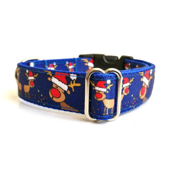"""""""Rudolf"""" kék karácsonyi nyakörv, Bol-dog, M"""