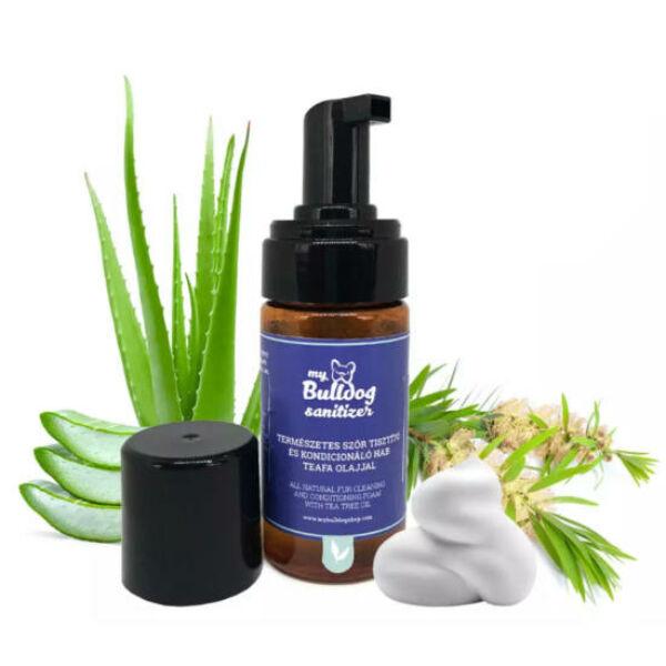 Sanitizer - Természetes szőrtisztító és kondicionáló hab teafa olajjal,100 ml, MyBulldogShop